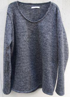 zero - Circular Cut Sliver Pullover Knit - Charcoal Black - 21,000JPY