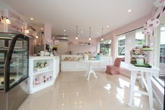 love the soft pink and white! pictures of bakery interiors - Google Search
