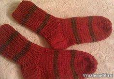 Как связать носки на 2-х спицах. Мастер-класс с пошаговыми фотографиями.
