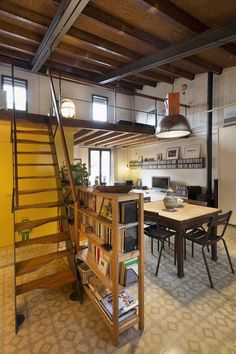This 1930s attic apartment was in rough, raw shape when purchased. After two years of remodeling the owner turned into a beautiful and welcoming space.