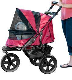 Pet Gear No-Zip AT3 Pet Stroller, Zipperless Entry, Rugge... https://www.amazon.com/dp/B00LM9IFQE/ | Rugged Red