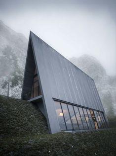 O especialista em arte alemão, Matthias Arndt, imaginou a Triangle Cliff House como um novo e maravilhoso conceito de arquitetura.