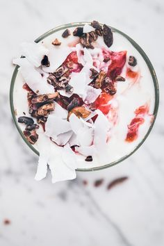Replace honey with rice syrup//Coconut Parfaits with Cacao Nibs | Milly's Kitchen