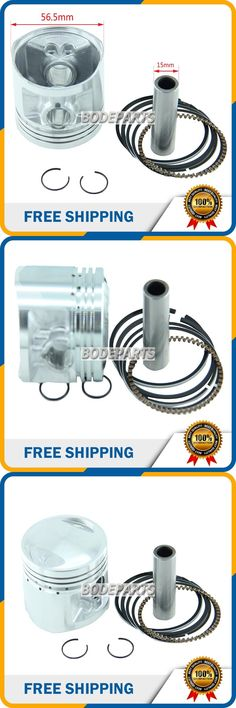 [Visit to Buy] HH-130 Motorcycle Parts ATV Parts 56.5mm PISTON for lifan zongshen loncin engines CG125CC air colded free shipping #Advertisement