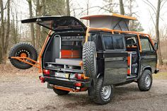 Off-road camping vanagon. Probably the coolest one I've ever seen. Or definitely...