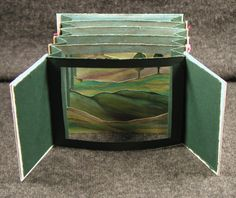 Tunnel book making Origami, Altered Books, Altered Art, Altered Tins, Tunnel Book Tutorial, Arte Pop Up, Paper Art, Paper Crafts, Cut Paper