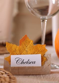 Thanksgiving table setting ideas that will make your holiday guests feel special and your table look festive. Thanksgiving table setting ideas that will make your holiday guests feel special and your table look festive. Fall Place Cards, Diy Place Cards, Thanksgiving Place Cards, Thanksgiving Table Settings, Thanksgiving Tablescapes, Holiday Tables, Thanksgiving Crafts, Thanksgiving Decorations, Holiday Crafts