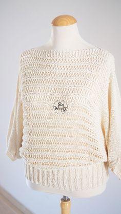 Batwing Sweater free knitting pattern - So Woolly Jumper Patterns, Sweater Knitting Patterns, Knitting Stitches, Free Knitting, Crochet Bat, Free Crochet, Knitting Videos, Knitting Projects, How To Start Knitting