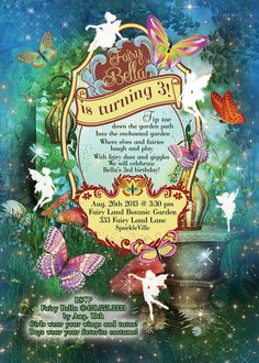Fairy Fairies Fairy Garden Party Invitation Fairy by BellaLuElla, $13.00