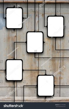 #Black #multiple #blank #connected #frames #diagram #wood #texture