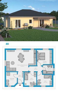 Plana 95 - schlüsselfertiges Massivhaus #spektralhaus #ingutenwänden #Bungalow #Grundriss #Hausbau #Massivhaus #Steinmassivhaus #Steinhaus #schlüsselfertig #neubau #eigenheim #traumhaus #ausbauhaus