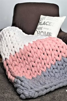 Etsy Chunky Knit Blanket, Merino Wool blanket,Arm Knit,Chunky Knit,Chunky knit throw