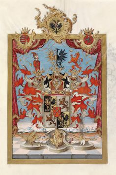 Austrian Grant of Nobility and of Arms to Freiherr Kempf von Angret, 1759.