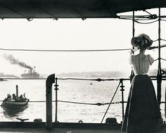 Watching HMS Powerful depart Sydney Harbour, Arthur Allen photographs the flagship depart on board the Pyramus, 5 September 1907. Mitchell Library, State Library of New South Wales