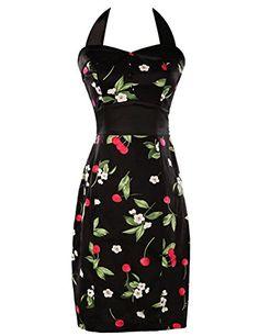 Vintage Polka Dot Evening Dress Halter Neck Cotton Size 2 CL4590-0 GRACE KARIN Pencil Dresses http://www.amazon.com/dp/B00U8JOCI4/ref=cm_sw_r_pi_dp_b10Jvb03K81KX