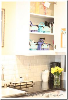 kitchen cabinet at a thoughtful place