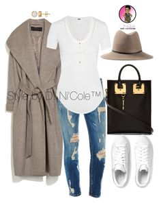 A fashion look from December 2015 featuring white jersey, wool lined coat and skinny fit jeans. Browse and shop related looks. Estilo Fashion, Love Fashion, Fashion Looks, Womens Fashion, Winter Outfits, Casual Outfits, Fashion Outfits, Fashion Trends, Cardigan Casual
