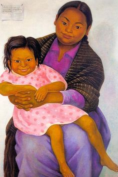 Portrait of Madesta and Inesita - Diego Rivera, 1939 Diego Rivera Art, Diego Rivera Frida Kahlo, Frida And Diego, Mexican Artists, Mexican Folk Art, Chagall, Guanajuato, Mural Painting, Artist Painting