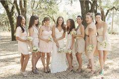 Bridesmaid Dresses: Beige, Tan and Neutral, Bride Ideas