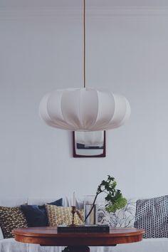 Bedroom Lamps, Bedroom Ideas, Nelson Bubble Lamp, George Nelson, Ceiling Lights, Living Room, Design, Home Decor, Light Fixture