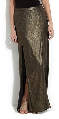 Limited Gold Double Slit Maxi Skirt from New Look - Was £ 24.99 now £12.50