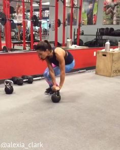 """3,984 Likes, 106 Comments - Alexia Clark (@alexia_clark) on Instagram: """"Kettlebell Kill Sesh 4 rounds of the circuit  Exercise 1: 15 reps each side Exercise 2: 20…"""""""