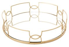One Kings Lane - Uptown/Downtown - Mirror Tray, Gold