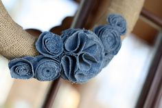 The Magic of Ordinary Things: BURLAP & DENIM WREATH