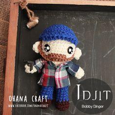 Supernatural Inspired crochet Amigurumi doll-- Crochet Bobby Singer https://www.facebook.com/OhanaCraft/