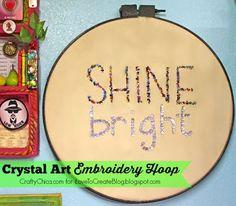 iLoveToCreate Blog: Crystal Art Embroidery Hoop