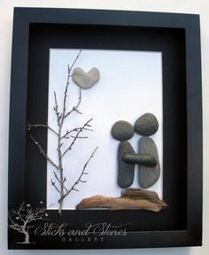 Unique Engagement Gift- Personalized Couple's Gift - Wedding Gift - Pebble Art - Gifts For Men on Etsy, $80.00 CAD