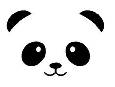 Image result for panda face svg