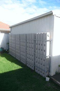 Coil low profile water storage idea