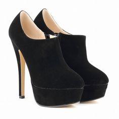 US Size 4.5-10 winter casual Ankle Boots Faux Velvet platform high heels ladies women Botas Femininas 817-3
