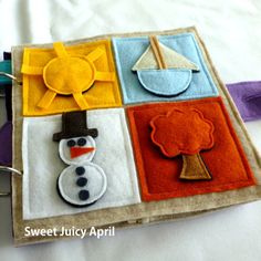 Custom Velcro Matching Quiet Book Page by SweetJuicyApril on Etsy