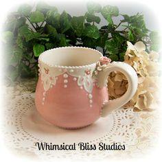 Whimsical Bliss Studios - Blush Lace Mug