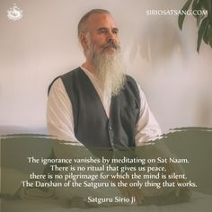 The ignorance vanishes by meditating on Sat Naam.... | Sirio Satsang @tumblr