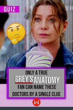 Grey's Anatomy Trivia - Are you ready for a challenge? Quiz about Grey's Anatomy characters/doctors by a single clue. Meredith Grey. Derek Shepherd. Christina Yang. Ellen Pompeo, Shondaland, Seattle grace, Grey Sloan, Interns of Grey, greys quiz.