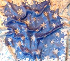 silk scarf handpainted , Christmas gift, 31x31 inches , 80*80 cm, blue scarf, winter gift, gift for her, gift for women, handpainted gift for mom, neckerchief, hand dyed silk Take a look at our wonderful batik scarves; once you do, you wont refuse one. They are made of natural silk, one of the most exquisite and elegant fabrics ever used for garments, interior design, and embellishment. Vivid and softly draping, scarves are an excellent accessory for womens dresses, office outfits, and…