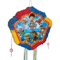 Pull String PAW Patrol Pinata 4in x 19in x 18 1/2in - Party City