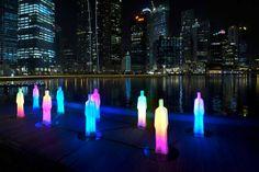 ilight-festival, Singapore, LED sculptures