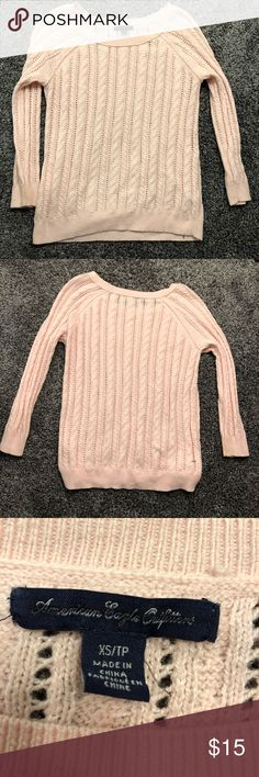 Adorable blush sweater for sale!! Super cute blush pink sweater for sale! American Eagle Outfitters Sweaters