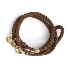 Brown rope dog leash!