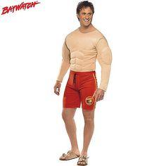 Disfraz de Vigilante de la Playa Musculoso #disfraces