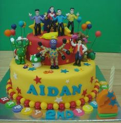 Wiggles for Aidan. Wiggles Birthday, Wiggles Party, Baby Birthday Cakes, Third Birthday, 2nd Birthday Parties, Birthday Ideas, Wiggles Cake, The Wiggles, Cakes For Boys