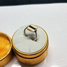 178 mm Ring Silber 925 Emaille 80er Jahre SR925