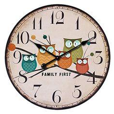 Lacaca European Style Vintage Creative Forest Owl Round Wood Wall Clock Quartz Bracket A Lacaca http://www.amazon.co.uk/dp/B01AHT6SUE/ref=cm_sw_r_pi_dp_v91Nwb1C1V2J9