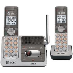 DECT 6.0 Cordless Phone System with 2 Handsets, Talking Caller ID & Digital Answering System (2-Handset System) - ATT - ATTCL82201