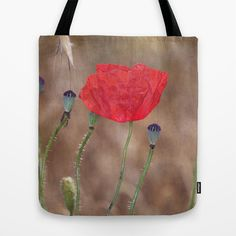 Happy poppy. T Tote Bag by Guido Montañés - $22.00 FREE Worldwide Shipping and $5 Off Each Item Today!