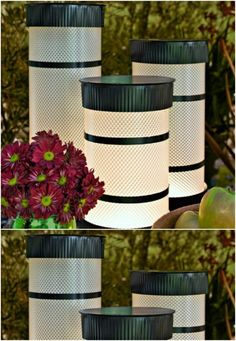 Yes, you can buy stunning lanterns and lamps online. But how about trying to make some DIY lanterns this time. It will help to give a nice personal touch to your decoration. Can Lanterns, Garden Lanterns, Diy Décoration, Easy Diy, Tea Light Candles, Tea Lights, Vintage Home Decor, Diy Home Decor, Outdoor Chandelier